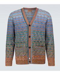 Missoni Cardigan in cotone a righe effetto sfumato - Blu