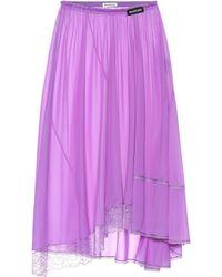 Balenciaga - Lace-trimmed Jersey Skirt - Lyst