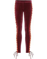 PUMA - Embellished Velour leggings - Lyst