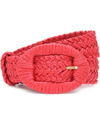 Altuzarra Raffia Belt - Red