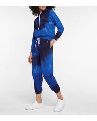 Polo Ralph Lauren Pantaloni sportivi a stampa tie-dye in cotone - Blu
