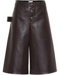 Bottega Veneta Leather Culottes - Brown