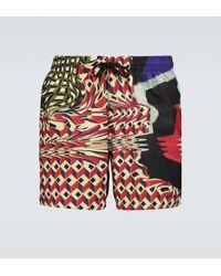 Dries Van Noten Printed Swim Shorts - Red