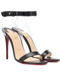 Christian Louboutin Jonatina 100 Leather Sandals - Black