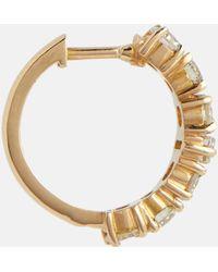 Ileana Makri Orecchini a cerchio Rivulet in oro 18kt con diamanti - Metallizzato