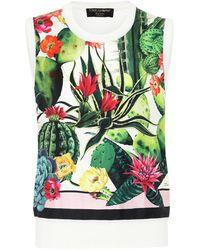 Dolce & Gabbana Exklusiv bei Mytheresa – Pullunder aus Seide und Kaschmir - Mehrfarbig