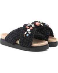 Inuikii - Embellished Crochet Slides - Lyst