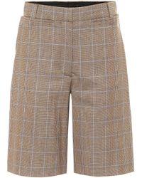 Burberry Mae Virgin Wool Bermuda Shorts - Brown
