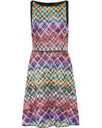 Missoni - Checked Jersey Dress - Lyst