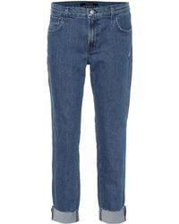J Brand Mid-Rise Jeans Johnny - Blau