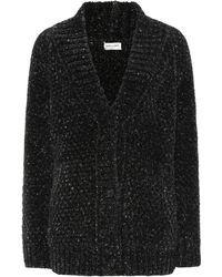 Saint Laurent - Lurex® Knit Cardigan - Lyst