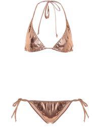 Lisa Marie Fernandez Bikini Pamela in vinile - Metallizzato