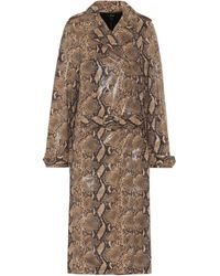 Ellery Spectrum Faux-leather Trench Coat - Brown