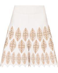 Alaïa High-rise Jacquard Shorts - Natural
