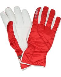 Bogner Leather-trimmed Ski Gloves - Red
