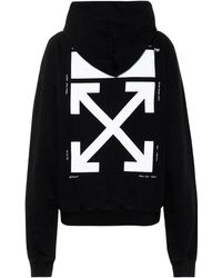 Off-White c/o Virgil Abloh - Printed Cotton Hoodie - Lyst