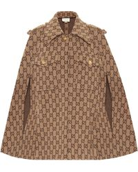 Gucci GG Wool Cape - Natural