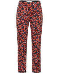 Victoria, Victoria Beckham Cherry Print Pajama Pants - Red