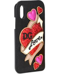Dolce & Gabbana - Embellished Leather Iphone X Case - Lyst