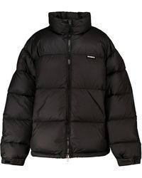 Vetements Logo Puffer Jacket - Black