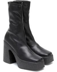 Stella McCartney Ankle Boots aus Lederimitat - Schwarz