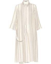 Jil Sander - Striped Midi Dress - Lyst