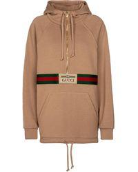 Gucci Hoodie aus Baumwoll-Jersey - Mehrfarbig
