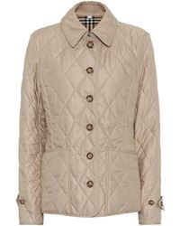 Burberry Quilted Jacket - Natural
