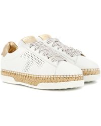 Tod's - Gomma Leather Trainers - Lyst
