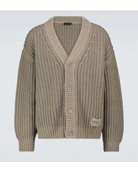 Prada Cardigan in lana e cashmere - Multicolore