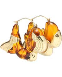 Ellery Han Resin Earrings - Metallic