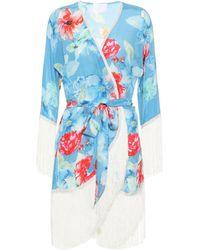 Athena Procopiou - In Bloom Silk Kimono - Lyst