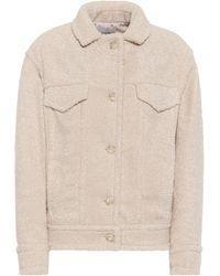 Vince Faux Shearling Jacket - White