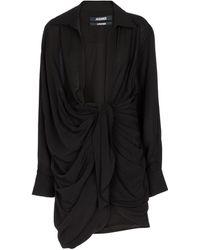 Jacquemus Vestido corto La Robe Bahia - Negro