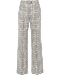 Acne Studios High-rise Wide-leg Pants - Gray