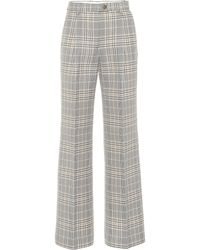 Acne Studios High-rise Wide-leg Trousers - Gray