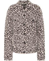 Alanui Veste en jacquard de laine à motif léopard - Multicolore