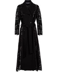 Dolce & Gabbana Crêpe And Lace Coat - Black