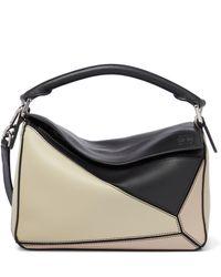 Loewe - Paula's Ibiza Puzzle Small Leather Shoulder Bag - Lyst