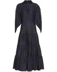 Chloé Denim Maxi Dress - Blue