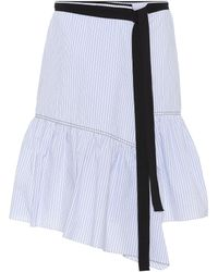 Dorothee Schumacher - Striped Cotton-blend Skirt - Lyst