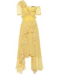 Preen By Thornton Bregazzi Kennedy Georgette Midi Dress - Yellow
