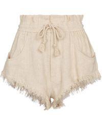 Étoile Isabel Marant Shorts Talapiz aus Seide - Weiß