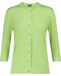 Loro Piana Ventotene Silk-blend Cardigan - Green