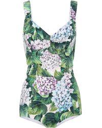 Dolce & Gabbana - Floral-printed Jacquard Bodysuit - Lyst