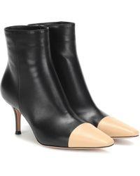 Gianvito Rossi Exklusiv bei Mytheresa – Ankle Boots Lucy aus Leder - Schwarz