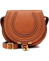 Chloé Shoulder Marcie Sadle Tan Leather Cross Body Bag - Brown