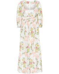 Brock Collection Exclusive To Mytheresa – Ondina Floral Taffeta Midi Dress - White