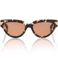 Bottega Veneta Cat-eye Sunglasses - Brown