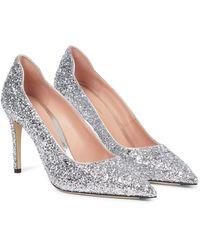 Victoria Beckham Glitter Court Shoes - Metallic
